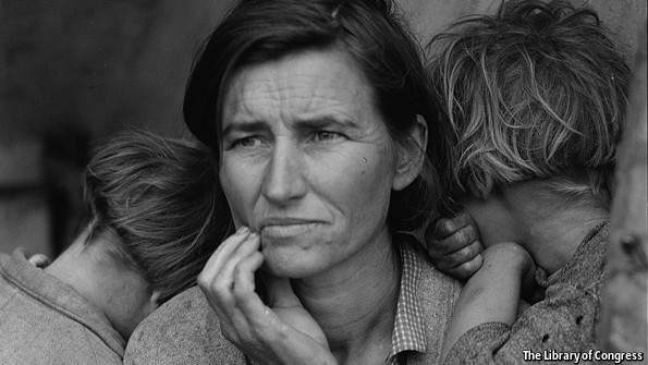 """Migrant Mother"" by Dorothea Lange (1936)"