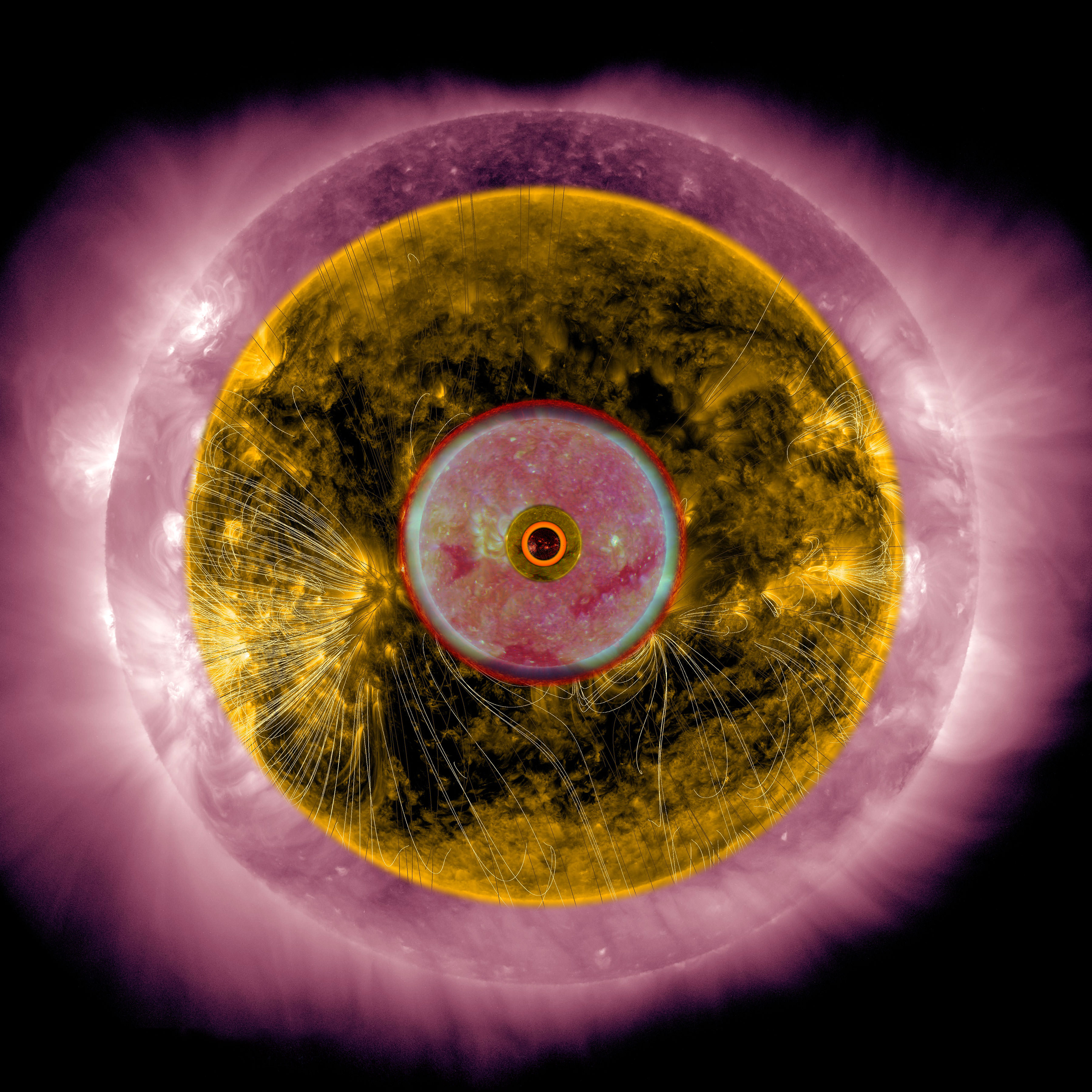 Scott Massey, Suns as Relative Planetary Scale 1, 2015 Archival inkjet print, 40.5 x 40.5 cm  Image courtesy of the artist
