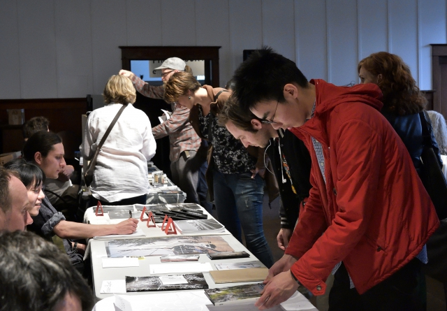 Visitors at the Vancouver Photo Book Fair 2017. Photo by Roaming the Planet.