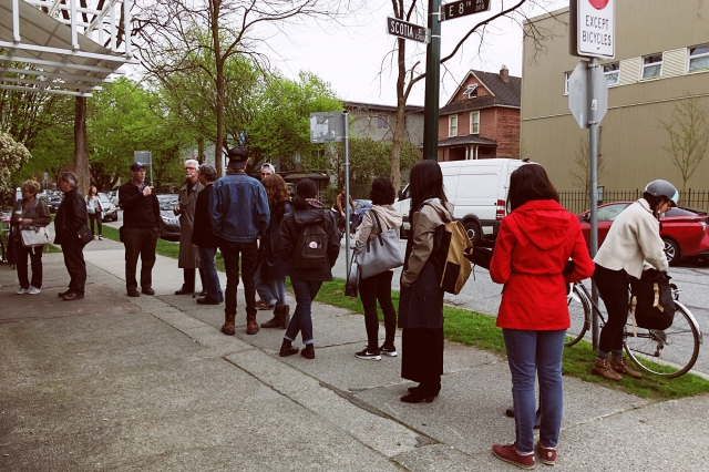 Line up for the Vancouver Photo Book Fair 2017 outside Western Front. Photo by Alistair Henning.