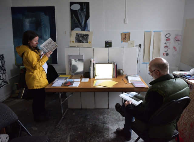 "Vancouver Art Book Fair ""Annotations"" Pop-Up Library at the James Black Gallery for the inaugural Vancouver Photo Book Fair 2017. Photo by Roaming the Planet."